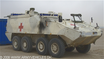 Mowag Piranha IIIC, 8 x 8, 24V, D (Front view, right side)