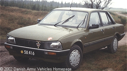 peugeot 505gr - danish army vehicles homepage