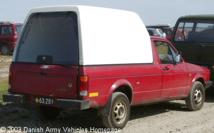 VW Caddy, 4 x 2, 12V (Rear view, right side)